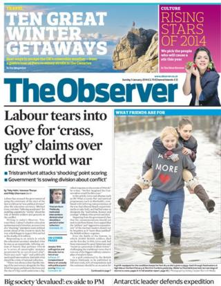 Observer front page 5/1/14
