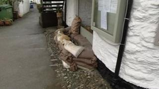 Sandbags in Looe