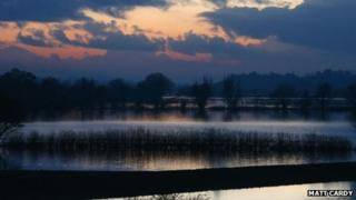 Flooded fields near Upton upon Severn