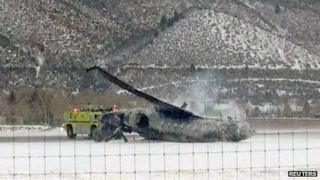 Crashes plane in Aspen, Colorado, 5 January