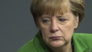 German Chancellor Angela Merkel - file pic