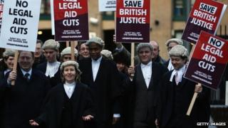 Barristers outside Southwark Crown Court