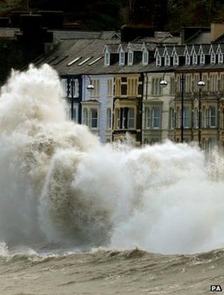 Storm waves in Aberystwyth
