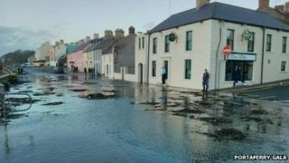 Flooding in Portaferry, County Down