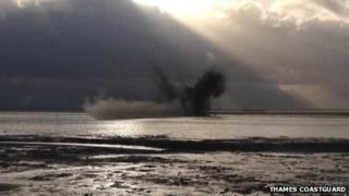 Royal Navy controlled explosion, Westcliff-on-Sea