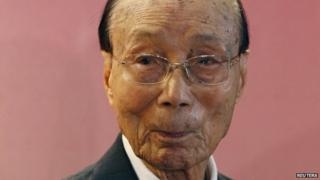 Hong Kong tycoon Run Run Shaw, in file image from 28 September 2010