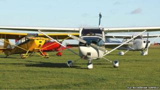 Planes at Old Buckenham Airfield