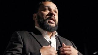 Controversial French comic Dieudonne M'bala M'bala (file image from January 2012)