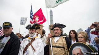 Tea Party backers in Washington (13 October 2013)