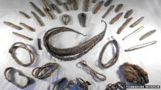 Bedale Viking hoard. Picture Yorkshire Museum