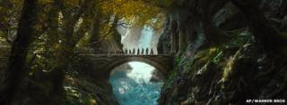 Scene from The Hobbit: The Desolation of Smaug