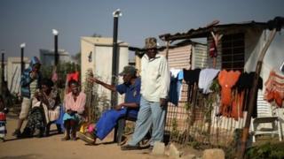 Residents of Diepsloot in Johannesburg