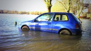 Flooding near Port Meadow