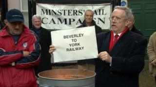 Minster Rail campaigners