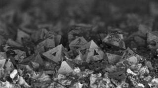 Crystals of a new material that can be used to generate electricity from heat