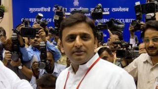 "Akhilesh Yadav, the chief minister of Uttar Pradesh, is receiving criticism for ""ignoring"" riot victims"