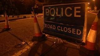 From the scene: Police closed part of the A15 at Thurlby, near Bourne, Lincolnshire