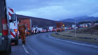 Traffic following accident on A9