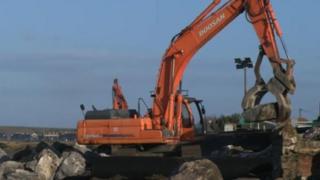 Embankment repairs