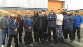 group pic, stress free parking workers