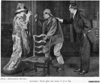 A scene from Pygmalion, 1914
