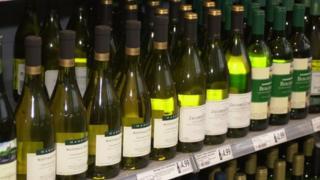 wine for sale in supermarket