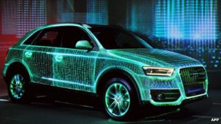 Audi Q3 on display