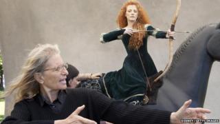 Jessica Chastain and photographer Annie Leibovitz