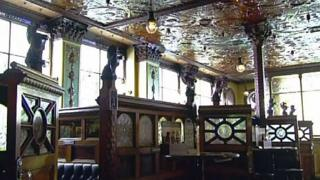 The Crown's features include elaborate mosaic tiling, stained glass and decorative woodwork.