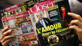 Closer magazine splash on President Hollande, 10 Jan 14