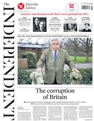 Independent front page 11/1/14