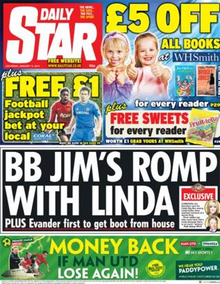 Daily Star front page 11/1/14