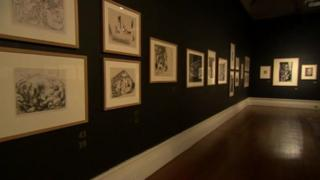 Several prints in the Usher Gallery