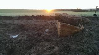 Large stones in the earth at All Cannings