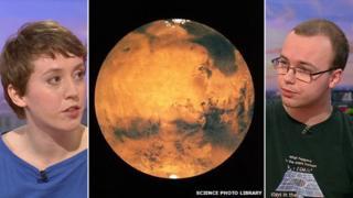 The planet Mars betwixt Hannah Earnshaw and Ryan MacDonald