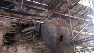 Damage to Cupola House
