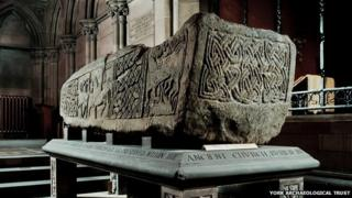 The sarcophagus dates back to about AD 900