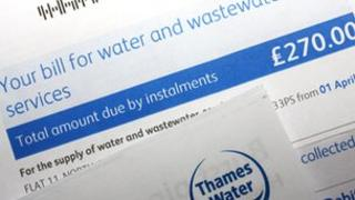 File photo of a Thames Water bill