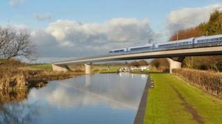 Proposed HS2 high speed line