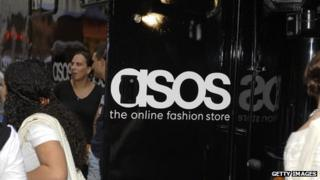 A picture of the Asos logo