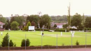 Ammanford cricket pitch