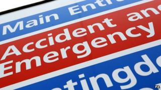 An Accident and Emergency sign