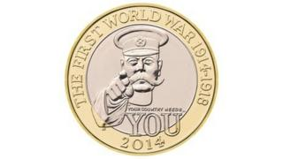 Coin commemorating the 100th Anniversary of WWI