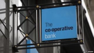 A co-op bank sign