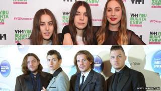Haim and Arctic Monkeys