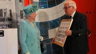 The Queen at the official opening of the BBC's New Broadcasting House