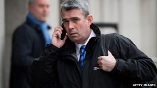 Mark Hanna arrives at the Old Bailey on 15 January 2014
