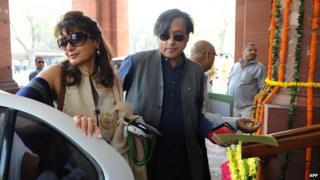 Sunanda Pushkar and Shashi Tharoor
