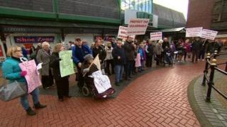 Protest in Cannock