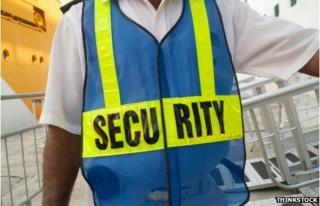 An airport security guard